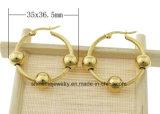 De Gouden Oorring Van uitstekende kwaliteit van het Plateren van het Roestvrij staal van de Juwelen van Shineme (ERS6976)
