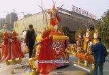 屋外の運動場の娯楽乗車の猿の動物の子供の乗車機械