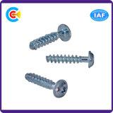 건물 철도를 위한 DIN/ANSI/BS/JIS Carbon-Steel 또는 Stainless-Steel 자두 꽃송이 헤드 편평하 테일 두드리는 나사