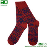 Calzini su ordinazione lavorati a maglia rossi del vestito dal cotone
