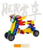Brinquedos plásticos engraçados do tijolo da deformação dos blocos de apartamentos de Dbolo