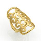 316L IP van de Juwelen van het roestvrij staal Ring van het Patroon van het Plateren de Gouden