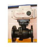 Válvula de esfera da flange do motor elétrico com baixo preço