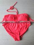 Swimwear напечатанный чернотой Beachwear Бикини треугольника Бикини для женщины/повелительницы