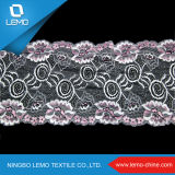 Nuovo merletto ricamato di disegno bordo per il vestito nuziale, tessuto del merletto del Sequin