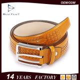 Cinturão de couro de couro genuíno com cinto de couro genuíno Cinto de homens com agulha trançada