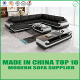 Wohnzimmer-Möbel-Ecken-Leder-modernes Sofa