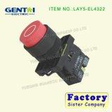 Commutateur de bouton poussoir imperméable à l'eau terminal de Pin de vis principale voûtée momentanée de Lay5-EV443 12mm