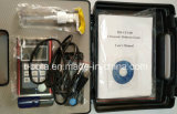 O TBT-UTT200 NDT testando o calibrador de espessura por ultra-som