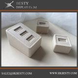 Cassetto personalizzato della visualizzazione dell'anello con tessuto