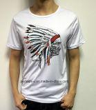 T-shirt en gros de vente d'hommes chauds avec le logo fait sur commande
