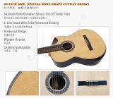 Guitarra clásica de Cutway del alto grado de la fábrica de Aiersi