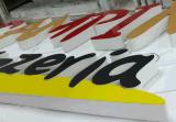 Segno esterno su ordinazione della lettera illuminato Frontlit LED con la parte anteriore del vinile