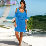 Vestido L38411 do t-shirt da praia do tempo de verão