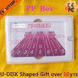Presente especial Cartão deslizante médio USB Memória flash (YT-3111)