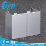 Panneau de revêtement solide simple en aluminium personnalisé de mur pour des coins de la construction