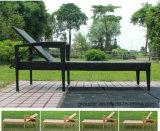2017 Hot Sale Protection de l'environnement PE Rattan Sunbed