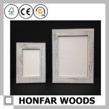 Cadre de tableau en bois blanc de type nordique pour la décoration de mur