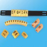 Etiqueta de plástico del cable del PVC en infante de marina