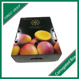 상단과 바닥 다채로운 과일 상자