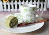 Tazas de café de cerámica del BI-Corlor con la cuchara