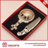 Metal de regalo de boda Ahuecado hacia fuera Espejo del bolsillo de la manija y sistema del peine