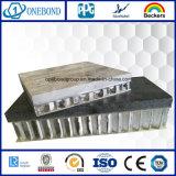 Panneau en aluminium de nid d'abeilles de placage en pierre solide pour le panneau de plafond suspendu