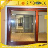 Подгонянная дверь алюминиевой раздвижной двери алюминиевая нутряная