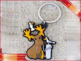Trousseau de clés promotionnel de PVC de logo en caoutchouc de trousseau de clés
