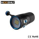 3개의 색깔 빛 최대 7200 Lm와 Watrproof 100m를 가진 Hoozhu 새로운 V72 잠수 영상 빛