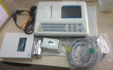 携帯用デザインECG EKG機械3チャネル12の鉛