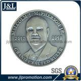 moneta in lega di zinco capa del metallo 3D con la placcatura d'argento antica