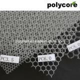 Agir en tant que filtre polycarbonate alvéolaire en vitrine de réfrigération
