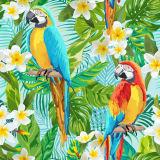 Peinture à l'huile de toile de coton de perroquet et de Gadenia