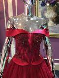 Une robe de soirée Ligne / Princesse pour le mariage avec le corps en perlage