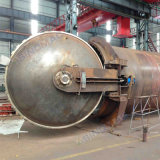 Vulcanizer de borracha aprovado de 2500X6000mm ASME com vapor indireto Heaeting