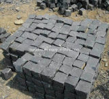 中国の黄色い灰色の黒い花こう岩の玉石