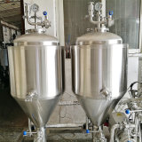 Depósitos de fermentación cónicos inoxidables caseros micro de la cerveza del acero 200L para la prueba de la venta usada