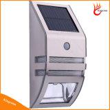 Waterproof 2 LED solaire Wall Light PIR Motion Sensor Lampes de jardin solaire Lampe de mur en acier inoxydable Lampe solaire