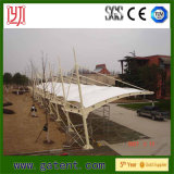 Tensile PVDF Membrane Car Parking Structure en acier Canopy