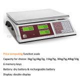 Scala di calcolo di prezzi della batteria a secco di figura di D con l'interfaccia RS232