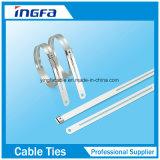 Uno mismo de la atadura de cables del acero inoxidable de la buena calidad que bloquea lazos del cierre relámpago de la bola