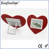 Рамка фотоего 2.4 цифров формы сердца дюйма миниая (XH-DPF-024C)