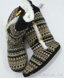 De la mujer damas tejidos de punto interior caliente zapatillas