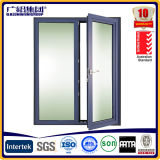 Fenêtre de battement d'ouverture pivotante vers l'intérieur avec vitre trempé / vitre de vitre en aluminium