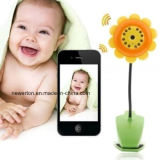 Home Security Sunflower Design Wireless Baby Monitor WiFi Camera DVR para iPhone iPad Android