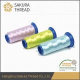 Filetto del ricamo del filamento del poliestere 50d di Oeko-Tex Sakura 100%