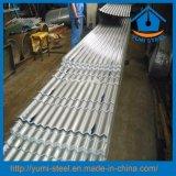 Folhas de metal de aço de alumínio onduladas do revestimento do telhado/parede para o material de construção