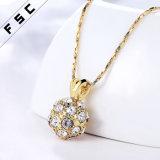 Rhinestone-klassisches Gold überzogene hängende Halskette für Mädchen