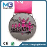 Medaglia personalizzata di sfida di sport di maratona del metallo 3D con la placcatura Bronze